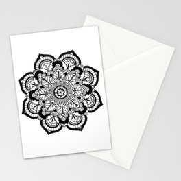 Black and White Flower Stationery Cards