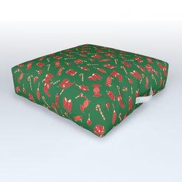 Winter Holidays Christmas Pattern Outdoor Floor Cushion