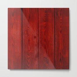 Red Wood Metal Print