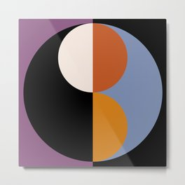 Geometric Circles Abstract III Metal Print