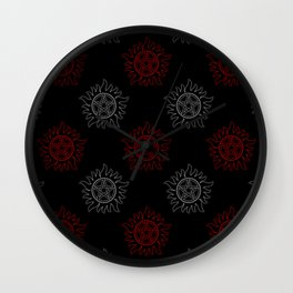 Anti Possesion Pattern Dual Glow Wall Clock