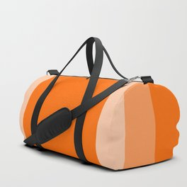 Orange Square Design Duffle Bag