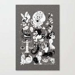 Zodiac Toons Canvas Print