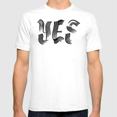 Yes Mens Fitted Tee SMALL White