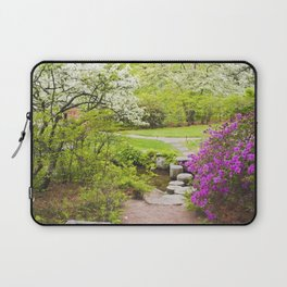 Asticou Azelea Garden In Spring Photograph on Mount Desert Maine Laptop Sleeve