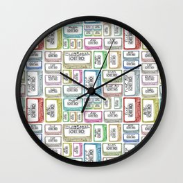 Tape Mix 1 Vintage Cassette Music Collection Wall Clock