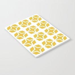 Mid Century Modern Star Pattern Mustard Yellow 551 Notebook