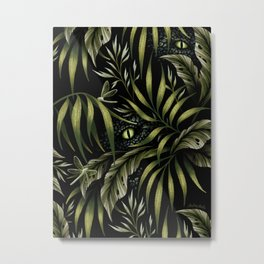 Jurassic Jungle - Camo Green Metal Print