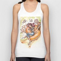 led zeppelin Tank Tops featuring The Little Mermaid Ariel Turntable Led Zepellin 70s Art by AnthonyHelmer