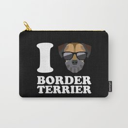 I Love Border Terrier modern v2 Carry-All Pouch