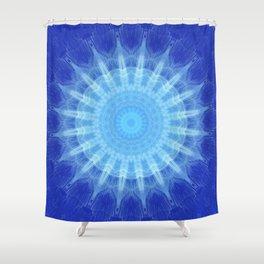 Mandala blue Star Shower Curtain