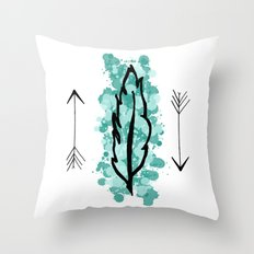 Feather And Arrows Throw Pillow