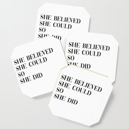 she believed Coaster