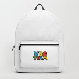 VBS Team Funny Vacation Bible School Christian Camp Humor Gift Pun Design Backpack