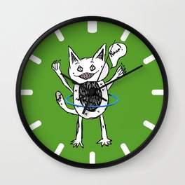 Monster Hula Hoop Wall Clock