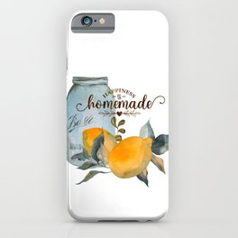 Lemon and leaves iPhone Case