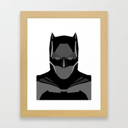 Geomtric Bat-man Framed Art Print