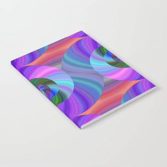 Metallic swirls Notebook