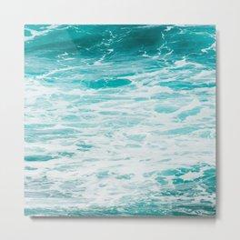 Turquoise Ocean Waves Metal Print