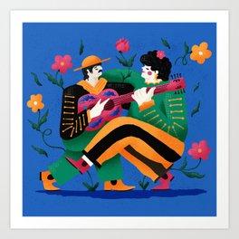 Mariachi Love 01 Art Print
