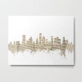 Houston Texas Skyline Sheet Music Cityscape Metal Print