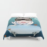 3d Duvet Covers featuring 3D by mark ashkenazi