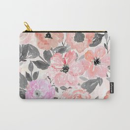 Elegant simple watercolor floral Carry-All Pouch
