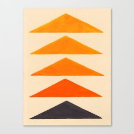 Vintage Scandinavian Orange Geometric Triangle Pattern Canvas Print