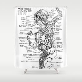 THE ENTIRE HUMAN BOD. Shower Curtain