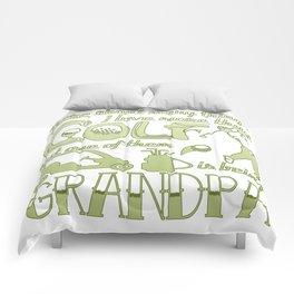Golf Grandpa Comforters