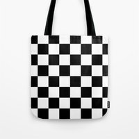 chess Tote Bags featuring Chess by ArtSchool