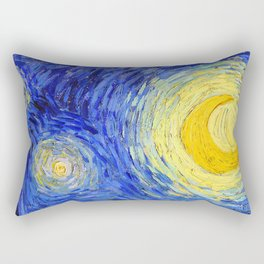 "Vincent Van Gogh "" Starry Night "" , Partial expansion Rectangular Pillow"