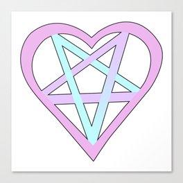 Yami Kawaii Pastel Goth Lucifer Pentagram Canvas Print