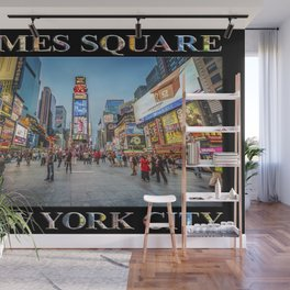 Times Square Sparkle (with type on black) Wall Mural