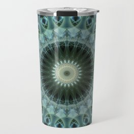 Mandala in light reen and blue tones Travel Mug