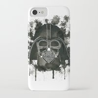 dark side iPhone & iPod Cases featuring Dark side by Gilles Bosquet