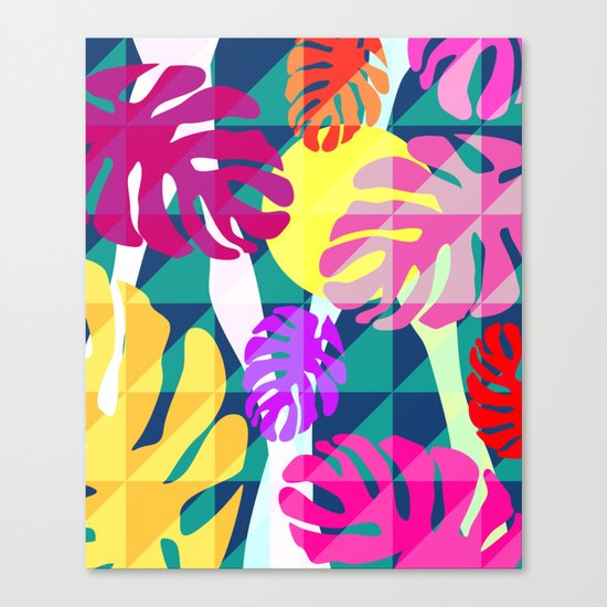 Tropical view II Canvas Print