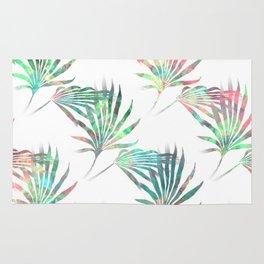 Palmetto Fronds Tropical Multicolor Pattern Rug