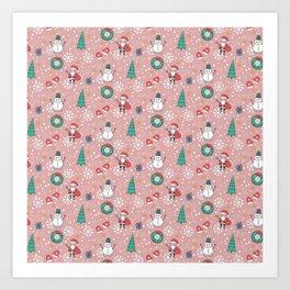 New Year Christmas winter holidays cute Art Print
