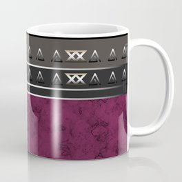 Marble . Combined abstract pattern. Burgundy marble . Coffee Mug