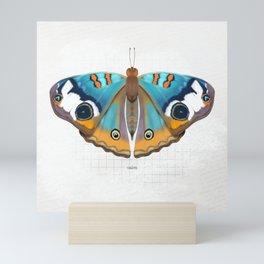 calm: buckeye butterfly Mini Art Print