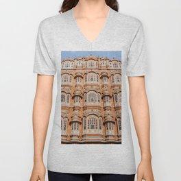 Historically Charged Hawa Mahal Jaipur India Asia Ultra HD Unisex V-Neck