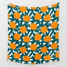Art Deco Minimalist Orange Grove Wall Tapestry