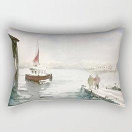 Fishing in Istanbul Rectangular Pillow