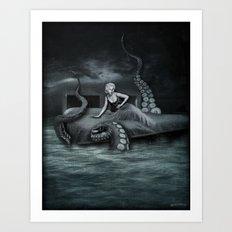 Octopus Attack! Art Print
