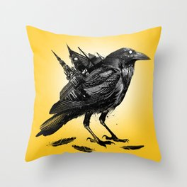 The Death Rattle Throw Pillow