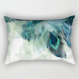 DREAMY FEATHERS & LEAVES Rectangular Pillow