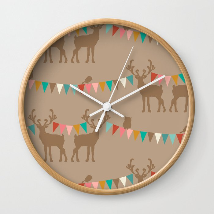 Forest Hideaway- forest vimmel Wall Clock