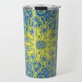 sunburst blue Travel Mug