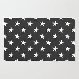 Black White Stars Rug